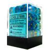 12mm d6 Dice Block: Borealis Teal w/Gold Thumb Nail