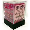 12mm d6 Dice Block: Borealis Pink w/Silver Thumb Nail