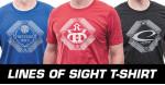 Performance Blend T-Shirt (Short Sleeve) (Performance Blend T-Shirt (Short Sleeve), Lines of Sight Latitude 64 Logo)