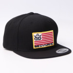 Snapback Adjustable Flatbill Cap (Flatbill Snapback Cap, Be Dynamic Flag Logo)