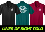 Lines of Sight DD Crown Polo (Short Sleeve) (Rapid Dry Polo (Short Sleeve), Lines of Sight DD Crown Logo)