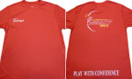Rapid Dry T-Shirt (Rapid Dry T-Shirt, Legacy Discs Logo (Front) and Play with Confidence (Back))