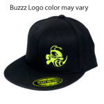 Discraft Buzzz Logo Flatbill Flex Fit Baseball Cap (Flatbill Flex Fit Baseball Cap, Buzzz Logo (Front left) and Discraft (Back))