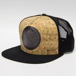Adjustable Cork Front Panel Flatbill (Snapback Mesh Cap, Dynamic Goods Logo)
