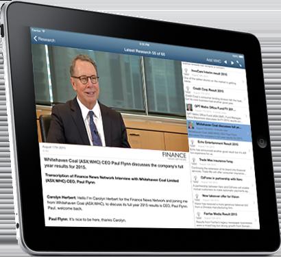 StockLight iPad video analysis screen